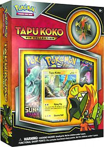 Pokemon Trading Card Game: Tapu-Koko 3-Pack Blister with Pin