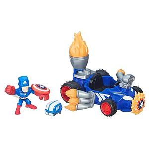 Marvel Super Hero Mashers Micro Captain America Racer Vehicle and Figure