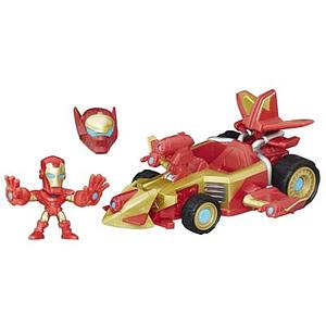 Marvel Super Hero Mashers Micro Sonic Overdriver Vehicle and Iron Man Figure