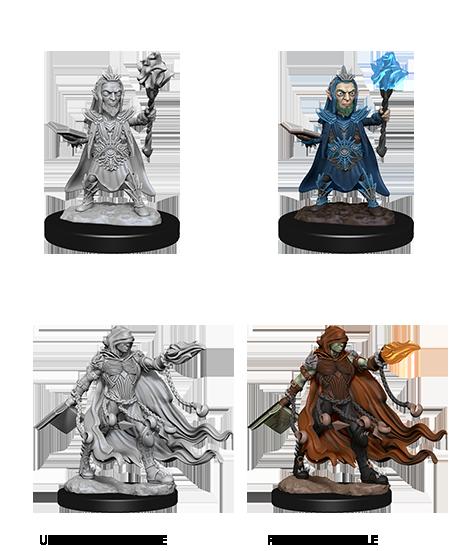 Pathfinder Deep Cuts Unpainted Miniatures: Evil Wizards