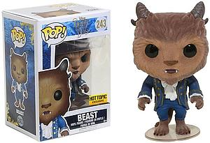 Pop! Disney Beauty & the Beast (2017) Vinyl Figure Beast (Flocked) #243 Hot Topic Exclusive