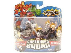 Marvel Super Hero Squad 2 Inch 2-Pack: Flame Cycle & Ghost Rider
