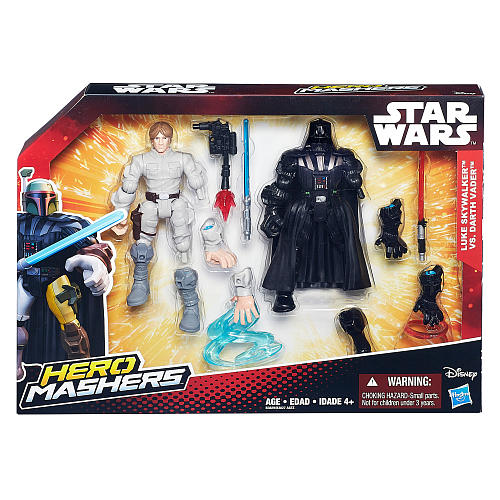 "Star Wars Hero Mashers 6"" 2-Pack Action Figure Luke Skywalker vs Darth Vader"