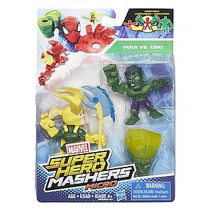 Marvel Super Hero Mashers Micro 2-Pack Action Figure - Hulk & Loki