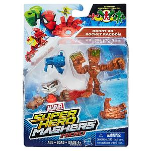 Marvel Super Hero Mashers Micro 2-Pack Action Figure - Groot vs Rocket Raccoon