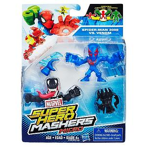Marvel Super Hero Mashers Micro 2-Pack Action Figure - Spider-Man 2099 vs Venom