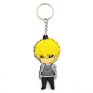 One Punch Man Keychain Genos (Rubber)