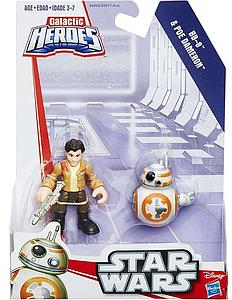 Star Wars Galactic Heroes 2-Pack BB-8 & Poe Dameron Mini Figure