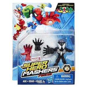 Marvel Super Hero Mashers Micro Series 3 Black Spider-Man Figure