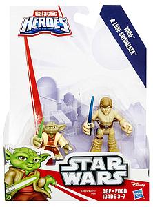 Star Wars Galactic Heroes 2-Pack Yoda & Luke Skywalker Mini Figure