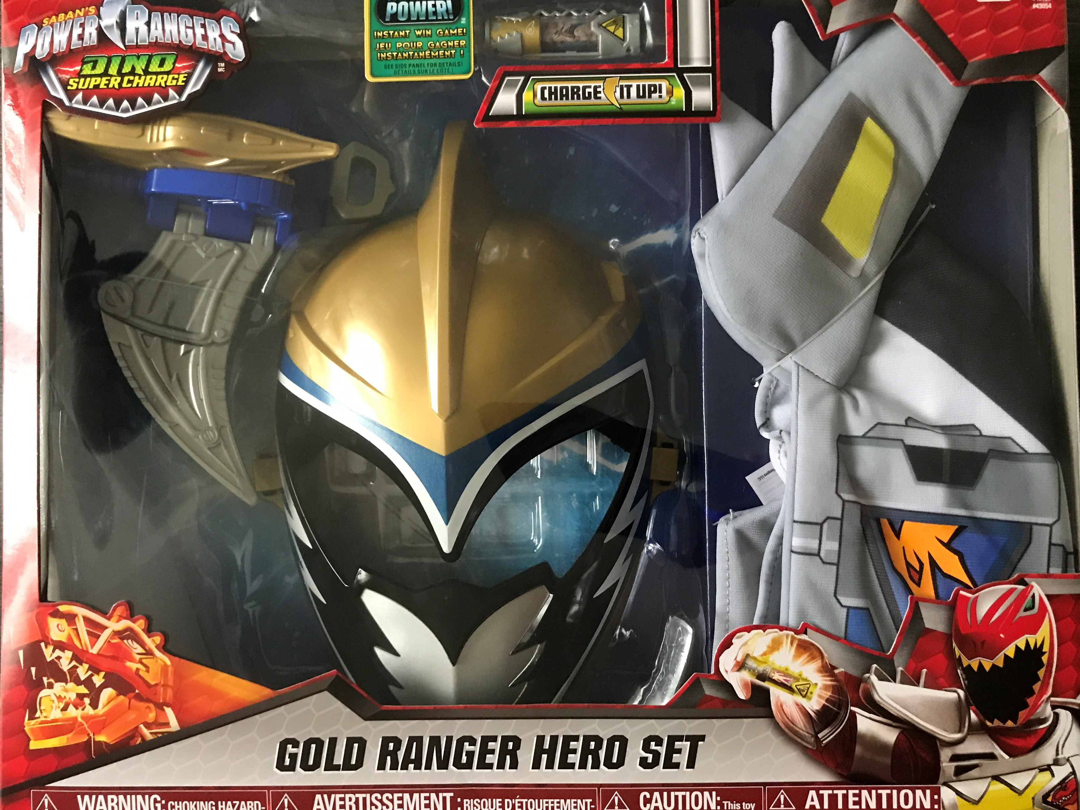Power Rangers Dino Super Charge Gold Ranger Hero Set Roleplay Toy