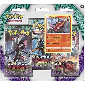 Pokemon Trading Card Game: Sun & Moon Guardians Rising 3-Pack Blister (Turtonator)