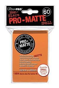 Non-Glare Pro-Matte: Orange Small Card Sleeves (62mm x 89mm)