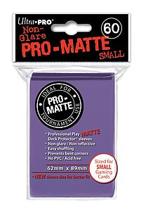 Non-Glare Pro-Matte: Purple Small Card Sleeves (62mm x 89mm)