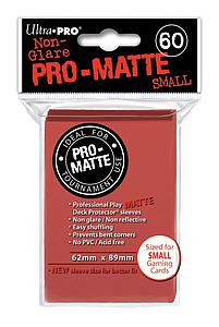 Non-Glare Pro-Matte: Red Small Card Sleeves (62mm x 89mm)