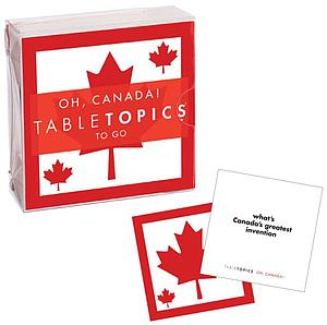Tabletopics to Go: Oh, Canada!