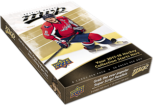 2017-2018 NHL Upper Deck MVP Hobby Booster Box (20 Packs)