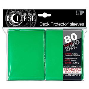 Card Sleeves 80-pack Pro-Matte Standard Size: Eclipse Opaque Green