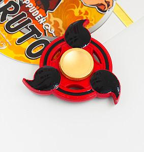 Fidget Spinner (Red) Metal Naruto