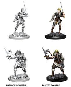 Dungeons & Dragons Nolzur's Marvelous Unpainted Miniatures: Human Barbarian (Female)