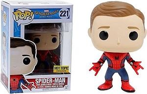 Pop! Marvel Spider-Man Homecoming Vinyl Bobble-Head Spider-Man (Unmasked) #221 Hot Topic Exclusive