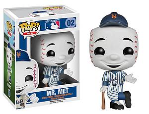 Pop! Baseball MLB Mascots Vinyl Figure Mr. Met (New York Mets) #02 (Retired) (Substandard)
