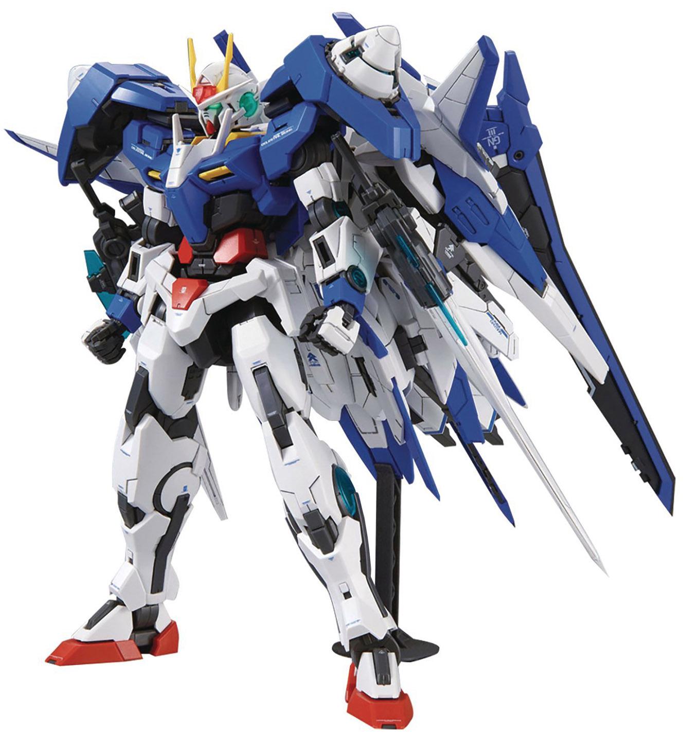 Gundam Master Grade Gundam 00 1/100 Scale Model Kit: GN-0000+GNR ...