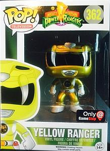 Pop! Television Mighty Morphin Power Rangers Vinyl Figure Yellow Ranger (Metallic) #362 GameStop Exclusive