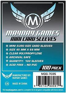 Board Game Standard Card Sleeves 100-pack: Mini European Size