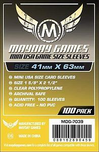 Mini USA Game Size Sleeves 41mm x 63mm 100-pack