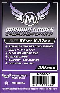 Standard USA Game Size Sleeves 56mm x 87mm 100-pack