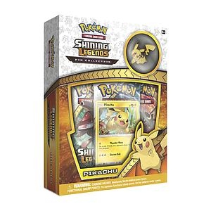 Pokemon Trading Card Game: Shining Legends Pikachu 3-Pack Blister with Pin