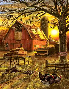 SunsOut Puzzle 1000 Pieces Sunset Barn (SUN15872)