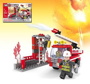 Brictek Firefighter Set: Fire Truck Simulator