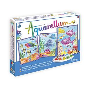 Aquarellum: Magic Canvas Large Coral Reefs