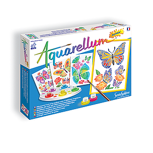 Aquarellum: Magic Canvas Junior Butterflies & Flowers
