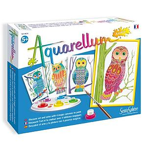 Aquarellum: Magic Canvas Junior Owls