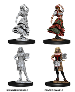Pathfinder Roleplaying Game Unpainted Miniatures: Bartender/Dancing Girl