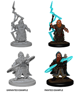 Pathfinder Roleplaying Game Unpainted Miniatures: Dwarf Male Sorcerer