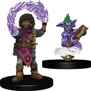 Wardlings Pre-Painted Miniatures: Girl Wizard with Genie