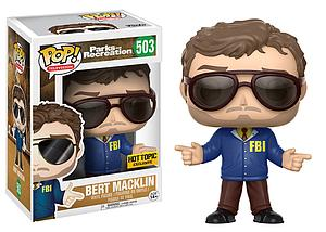 Pop! Television Parks and Recreation Vinyl Figure Bert Macklin #503 Hot Topic Exclusive