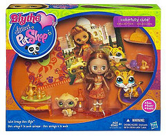 Blythe Littlest Pet Shop India: Orange Sari Style