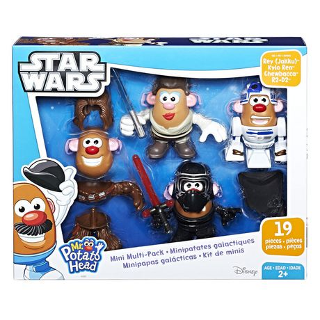 Playskool Friends Mr  Potato Head Star Wars Mini Multi-Pack Rey (Jakku),  Kylo Ren, Chewbacca R2-D2