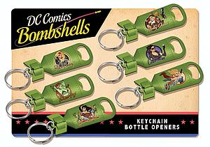 DC Comics Bombshells Keychain Bottle Opener: Black Canary