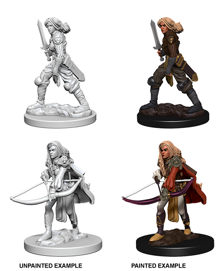 Pathfinder Roleplaying Game Unpainted Miniatures: Human Female Fighter