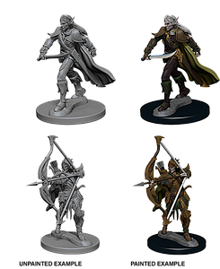 Pathfinder Roleplaying Game Unpainted Miniatures: Elf Male Fighter