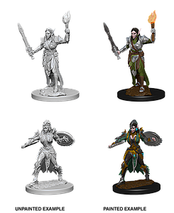 Pathfinder Roleplaying Game Unpainted Miniatures: Elf Female Fighter