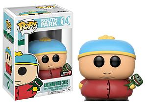Pop! Television South Park Vinyl Figure Cartman with Clyde #14 GameStop Exclusive