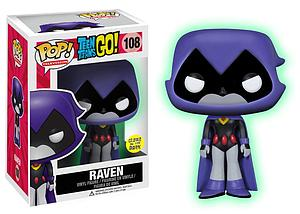 Pop! Television Teen Titans Go! Vinyl Figure Raven (Purple) (Glows in the Dark) #108 Toys R Us Exclusive