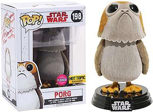 Pop! Star Wars The Last Jedi Vinyl Bobble-Head Porg (Flocked) #198 Hot Topic Exclusive